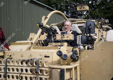 Defence Minister Julian Brazier, Under- Secretary of State responsible for the Reserve Forces, visits the The Royal Scots Dragoon Guards of Exercise Wessex Storm to view the Army's state-of-the-art JACKAL armoured reconnaissance vehicles.