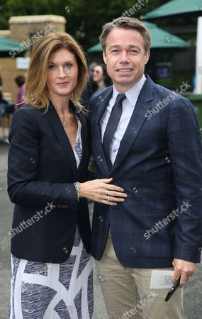Graeme Le Saux and his wife Mariana Le Saux during day five of the 2016 Wimbledon Championships at the All England Lawn Tennis Club, Wimbledon, London on the 1st July 2016