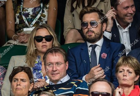 Kimberley Walsh and Brian Dowling during day six of the 2016 Wimbledon Championships at the All England Lawn Tennis Club, Wimbledon, London on the 2nd July 2016