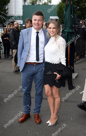 Brian O'Driscoll and Ms Amy Huberman during day six of the 2016 Wimbledon Championships at the All England Lawn Tennis Club, Wimbledon, London on the 2nd July 2016