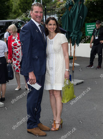 Matthew Pinsent and Demetra Pinsent arriving for day eight of the 2016 Wimbledon Championships at the All England Lawn Tennis Club, Wimbledon, London on the 4th July 2016