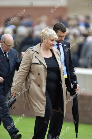 Stock Picture of French Junior minister for Elderly People and the Fight against Exclusion, Pascale Boistard