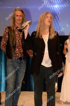 Lenny Kaye and Patti Smith