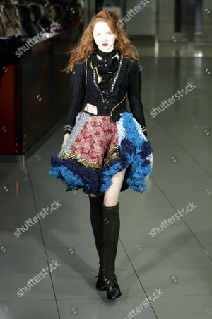 Stock Image of Lily Cole on the catwalk