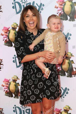 Stock Image of Adele Silva & daughter Sienna Farber