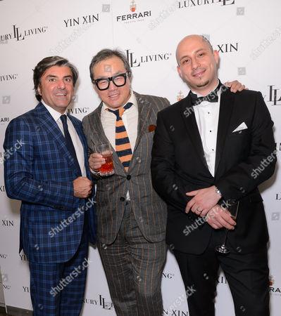 Massimiliano (Ferrari, Managing Director At Bugatti), Yin Xin and  Adam El Hout (Manager at Luxury Living London)