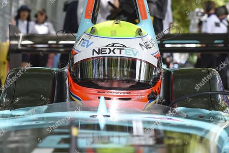 Oliver Turvey of Great Britain and Nextev TCR on the grid ahead of Round 9 of Formula E, Battersea Park, London