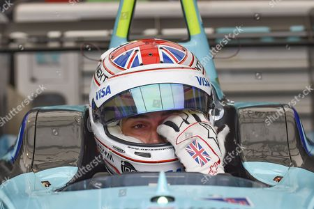 Oliver Turvey of Great Britain and Nextev TCR prepare for qualifying during Round 9 of Formula E, Battersea Park, London