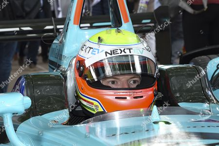 Oliver Turvey of Great Britain and Nextev TCR on the grid before Round 9 of Formula E, Battersea Park, London
