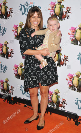 Stock Picture of Adele Silva & daughter Sienna Farber