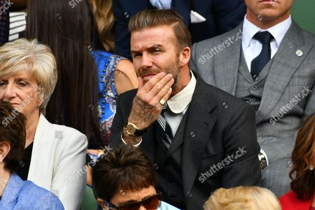 Stock Photo of David Beckham and Sandra Georgina West