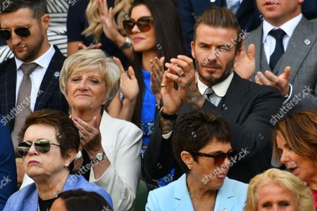 Stock Image of David Beckham and Sandra Georgina West