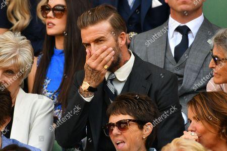 David Beckham and Sandra Georgina West