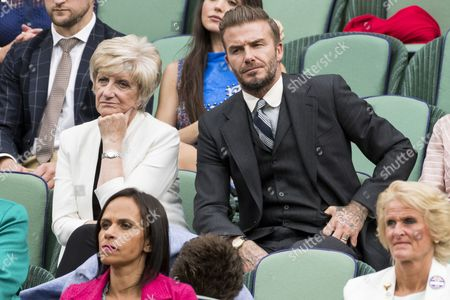 David Beckham and Sandra Georgina West