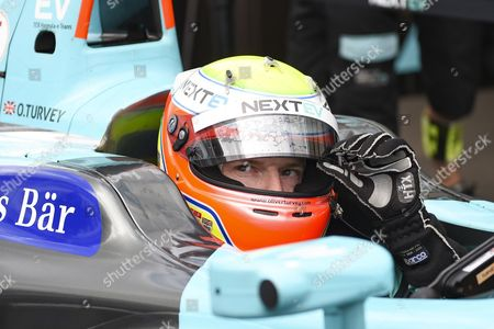 Oliver Turvey of Great Britain and Nextev TCR waits to start the qualifying session during Round 10, Formula E, Battersea Park, London