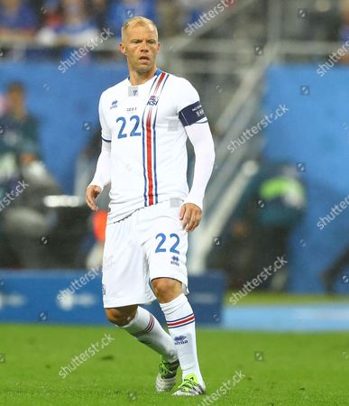 Eidur Gudjohnsen of Iceland during the UEFA Euro 2016 Quarter Final match between France and Iceland played at the Stade de France, Paris, France on July 3rd 2016
