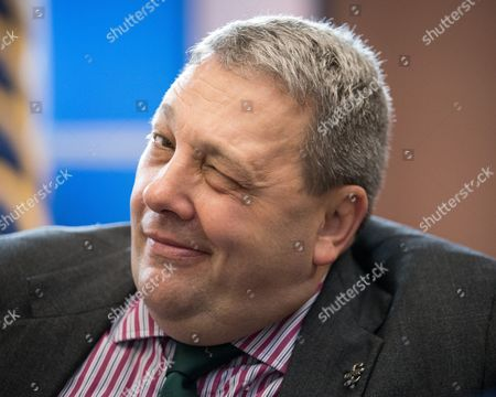 UKIP's David Coburn MEP at an event at which Nigel Farage delivers a speech on the party's plans, at which he announces his resignation as leader, following the Brexit referendum, at The Emmanuel Centre in Westminster.