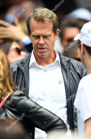Stefan Edberg on centre court during day eight of the 2016 Wimbledon Championships at the All England Lawn Tennis Club, Wimbledon, London on the 4th July 2016