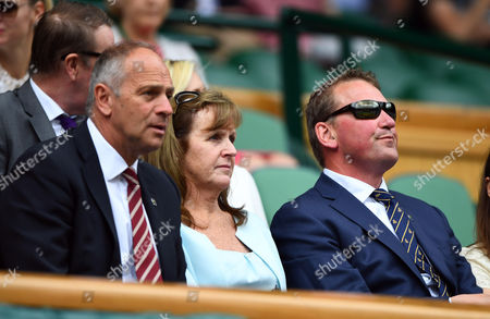 Sir Steve Redgrave and wife Ann with Sir Matthew Pinsent in the Royal Box