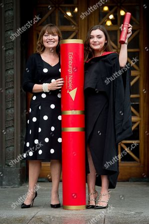 Editorial image of Rosie Smith graduation at Edinburgh Napier University, Scotland, UK - 04 Jul 2016