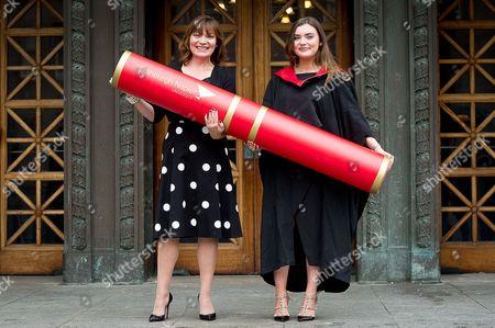Editorial picture of Rosie Smith graduation at Edinburgh Napier University, Scotland, UK - 04 Jul 2016