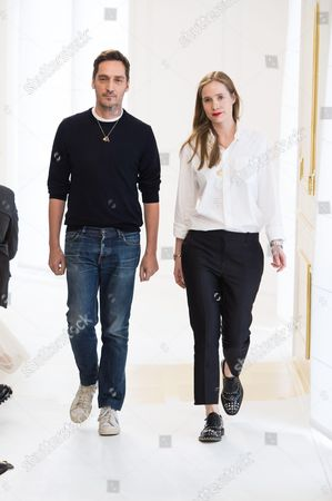 Serge Ruffieux and Lucie Meier on the catwalk