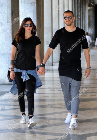 Martina Maccari and Leonardo Bonucci