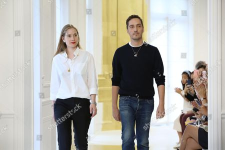 Lucie Meier and Serge Ruffieux on the catwalk