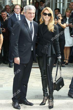 Stock Photo of Celine Dion and Sydney Toledano