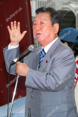 Stock Image of Ichiro Ozawa, President of People's Life Party