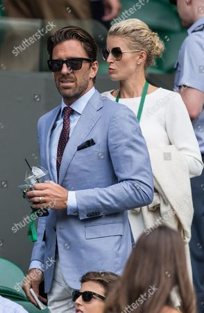 Stock Picture of Henrik Lundqvist and Therese Andersson