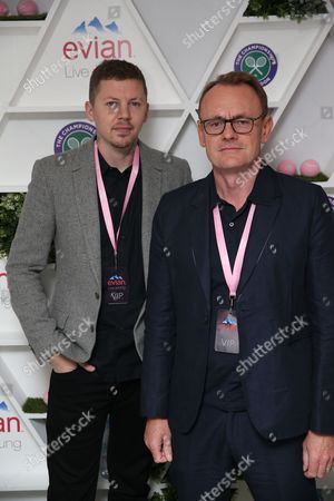 Professor Green and Sean Lock take part in #wimblewatch for Evian at Wimbledon 2016