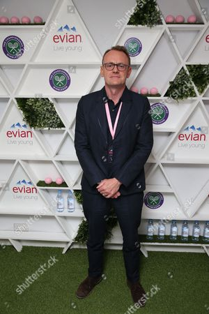 Sean Lock takes part in #wimblewatch for Evian at Wimbledon 2016