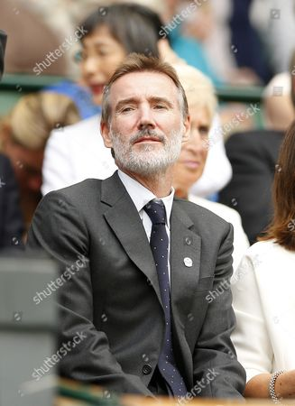 Stock Photo of Adam Crozier in the Royal Box on Centre Court during day nine of the 2016 Wimbledon Championships at the All England Lawn Tennis Club, Wimbledon, London on the 5th July 2016