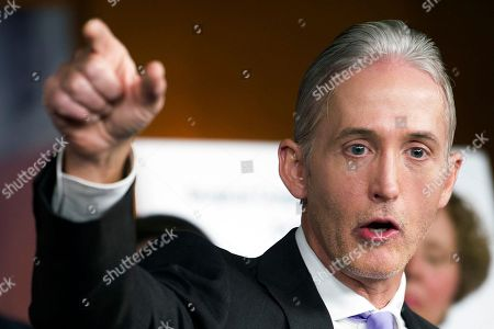 House Benghazi Committee Chairman Rep. Trey Gowdy, R-S.C., discusses the release of his final report on the 2012 attacks on the U.S. consulate in Benghazi, Libya, where a violent mob killed four Americans, including Ambassador Christopher Stevens, Tuesday, June 28, 2016, during a news conference on Capitol Hill in Washington. Republicans on the committee harshly faulted the Obama administration for lax security and a slow response to the deadly 2012 attacks at the U.S. diplomatic outpost in Libya. But they produced no new allegations about then-Secretary of State Hillary Clinton.