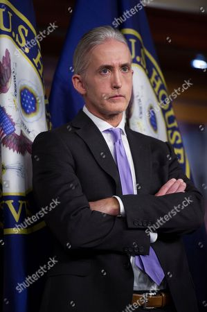 House Benghazi Committee Chairman Rep. Trey Gowdy, R-S.C., listens during a news conference on Capitol Hill in Washington, Tuesday, June 28, 2016, to discuss the release of his final report on the 2012 attacks on the U.S. consulate in Benghazi, Libya, where a violent mob killed four Americans, including Ambassador Christopher Stevens. Republicans on the committee harshly faulted the Obama administration for lax security and a slow response to the deadly 2012 attacks at the U.S. diplomatic outpost in Libya. But they produced no new allegations about then-Secretary of State Hillary Clinton.