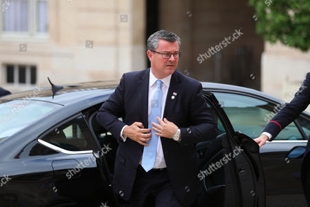 Prime Minister of Croatia Tihomir Oreskovic arrives for the Balkans summit