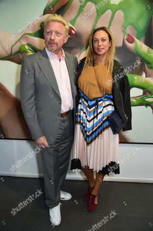 Stock Image of Boris Becker and Sharlely Lilly Kerssenberg