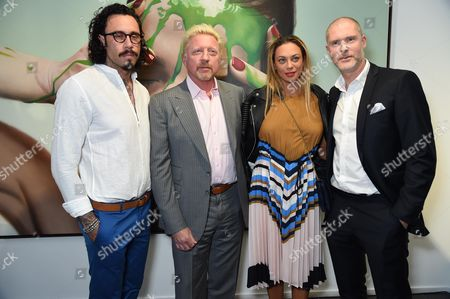 Mike Dargas, Boris Becker, Sharlely Lilly Kerssenberg and Jean-David Malat
