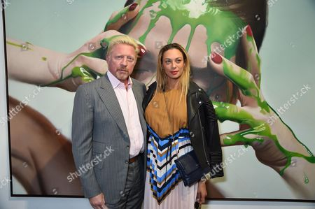 Stock Picture of Boris Becker and Sharlely Lilly Kerssenberg