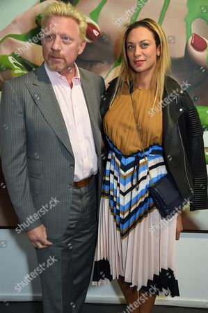 Stock Photo of Boris Becker and Sharlely Lilly Kerssenberg