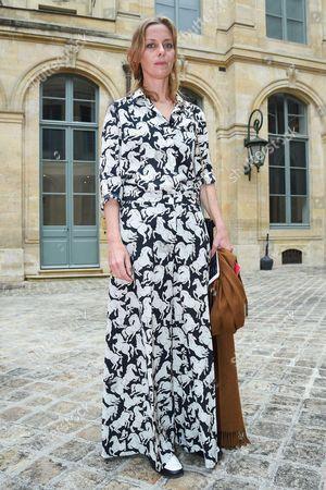 Editorial picture of Schiaparelli show, Outside Arrivals, Autumn Winter 2016, Haute Couture Fashion Week, Paris, France - 04 Jul 2016