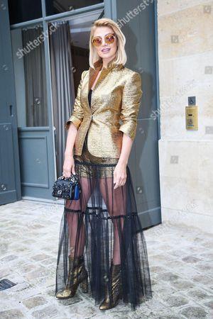 Editorial photo of Schiaparelli show, Outside Arrivals, Autumn Winter 2016, Haute Couture Fashion Week, Paris, France - 04 Jul 2016