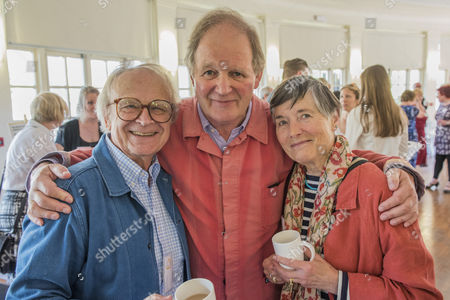 Michael Morpurgo and his wife Clare and David Wood (L)