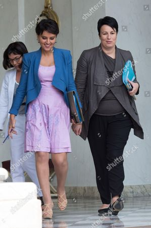 French Education Minister Najat Vallaud-Belkacem and French Junior minister for Local Authorities Estelle Grelier