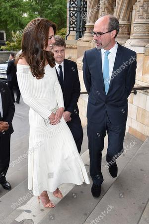 Catherine Duchess of Cambridge and Stephen Deuchar, Director Art Fund