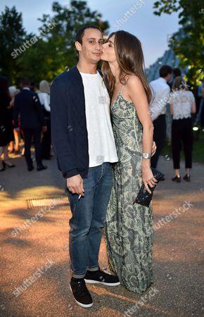 Stock Image of Alexander Dellal and Elisa Sednaoui