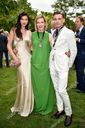 Matilda Lowther, Julia Peyton-Jones and Jamie Campbell Bower
