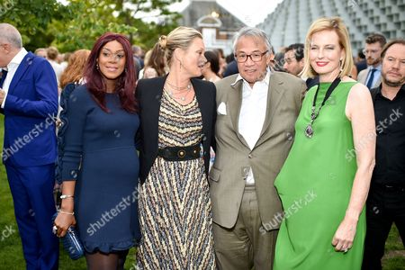 Phoebe Vela, Kate Moss, Sir David Tang and Julia Peyton-Jones