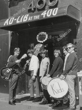 The Kids Pop Singing Group. L-r: Allan Walmsley Brian Wallden Alan Williams David Williams David Hughes And Peter Walmsley. Box 668 810021643 A.jpg.